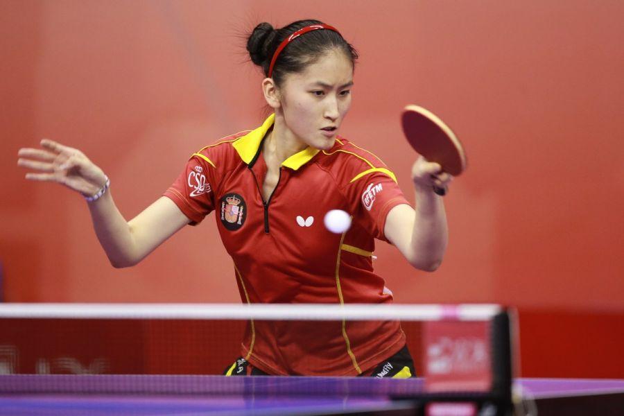 Sofía-Xuan Zhang en su debut hoy en Kuala Lumpur. (Foto: ittfworld)