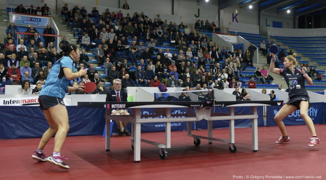 Imagen del partido de ida de cuartos en Francia.
