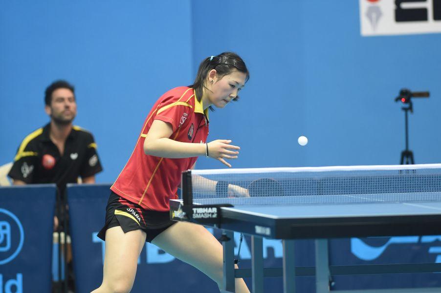 María Xiao en el ITTF World Tour Kuwait Open. (Foto: ittfworld)