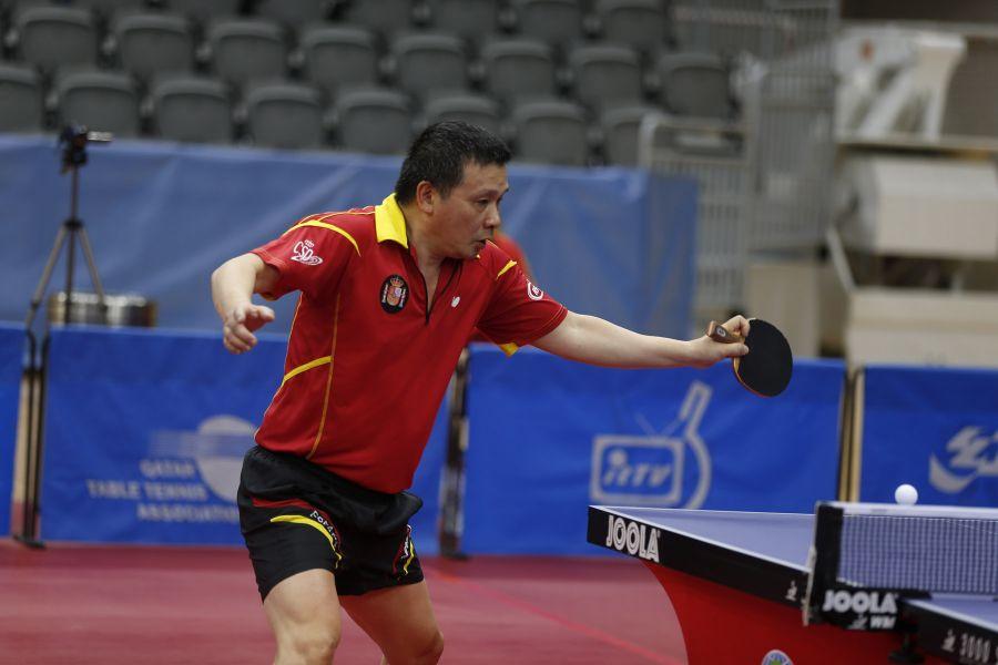"He Zhiwen ""Juanito"" en el ITTF World Tour Qatar Open. (Foto: ittfworld)"