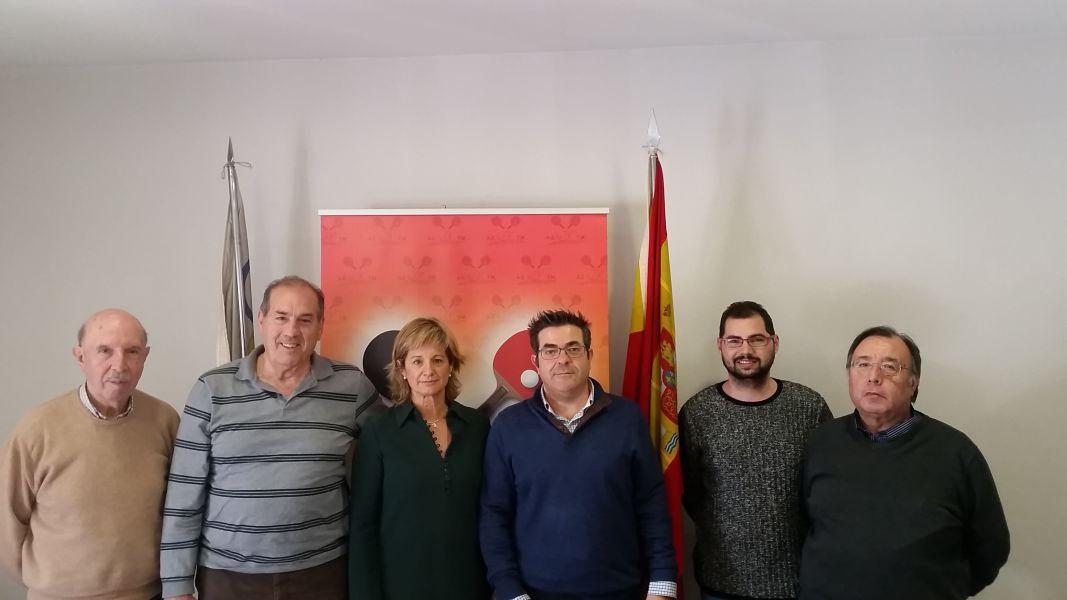 Sorteo de esta mañana en las oficinas de la RFETM en Madrid.