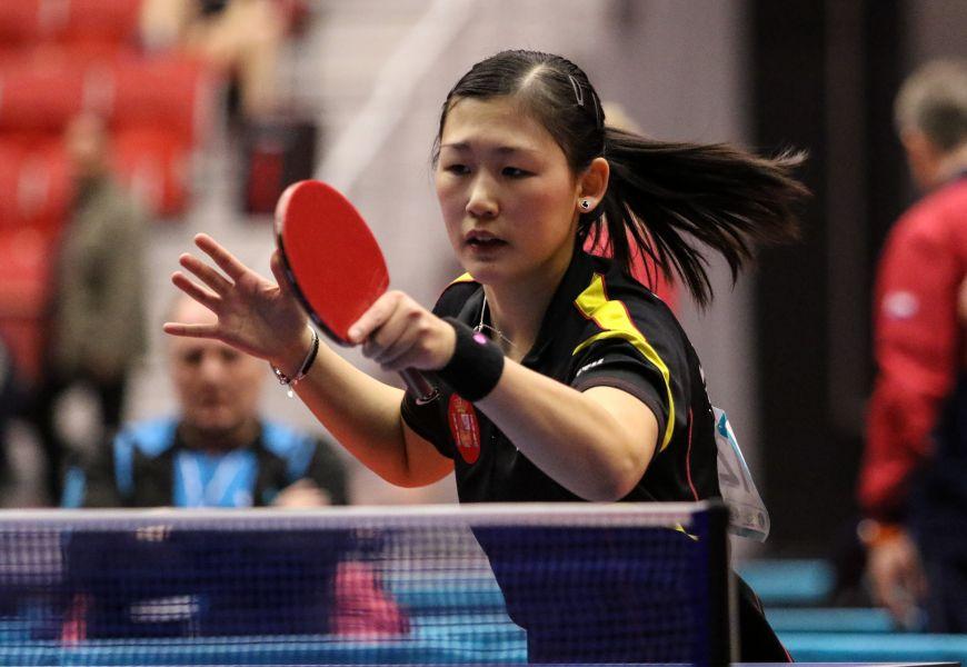 María Xiao en el Pre Olímpico de Suecia. Foto: ittfworld