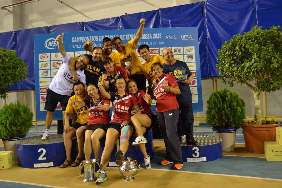 Equipos del UCAM Cartagena. (Foto: Leo Ruiz)