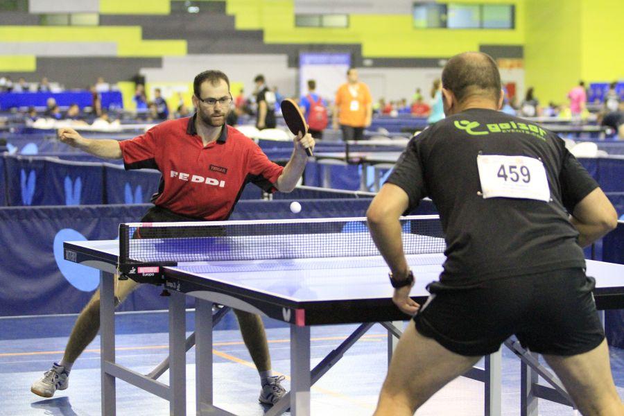 Eduardo Cuesta y Oscar Ponce disputando la final Individual Competición Masculina.