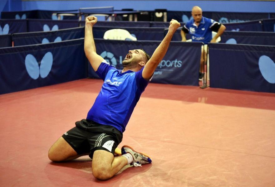 Jesús Cantero celebrando el último punto de la final. (Foto: Álvaro Díaz)