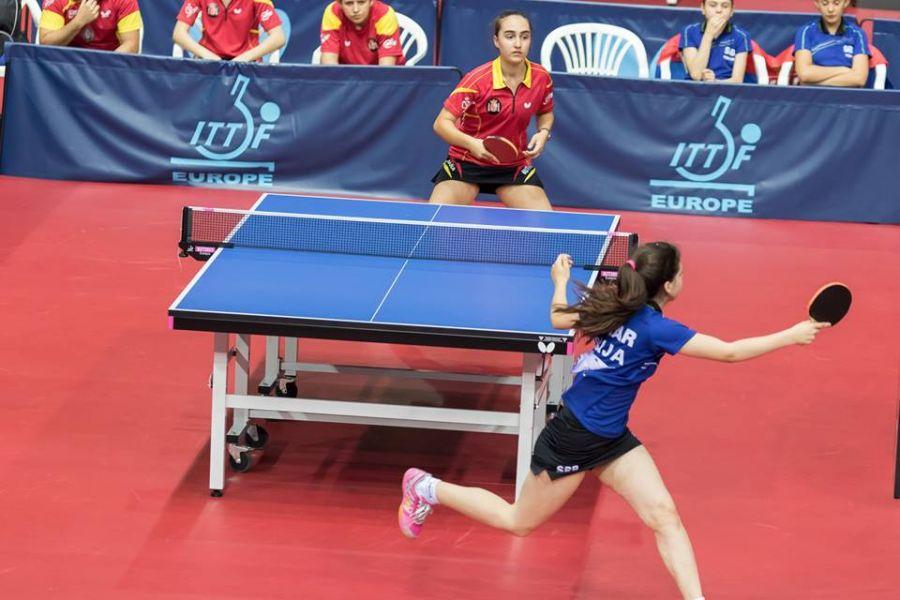 Emma Ruiz en un partido de la primera fase en Croacia. (Foto: Facebook ETTU)