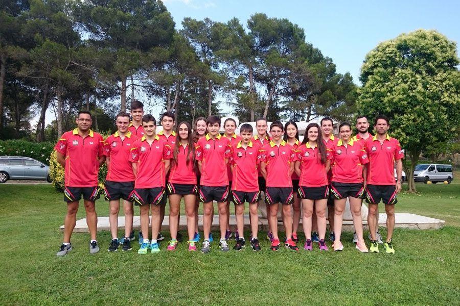 El equipo español en la concentración previa en el CAR de Sant Cugat.