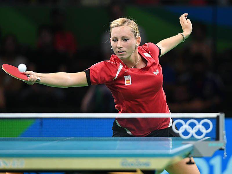 Galia Dvorak en los Juegos de Río 2016. (Foto: ittfworld)