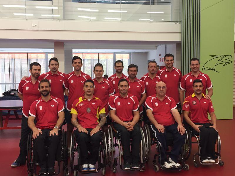 Equipo Paralímpico Español en la concentración en el CAR de Sant Cugat. (Foto: CAR Sant Cugat)