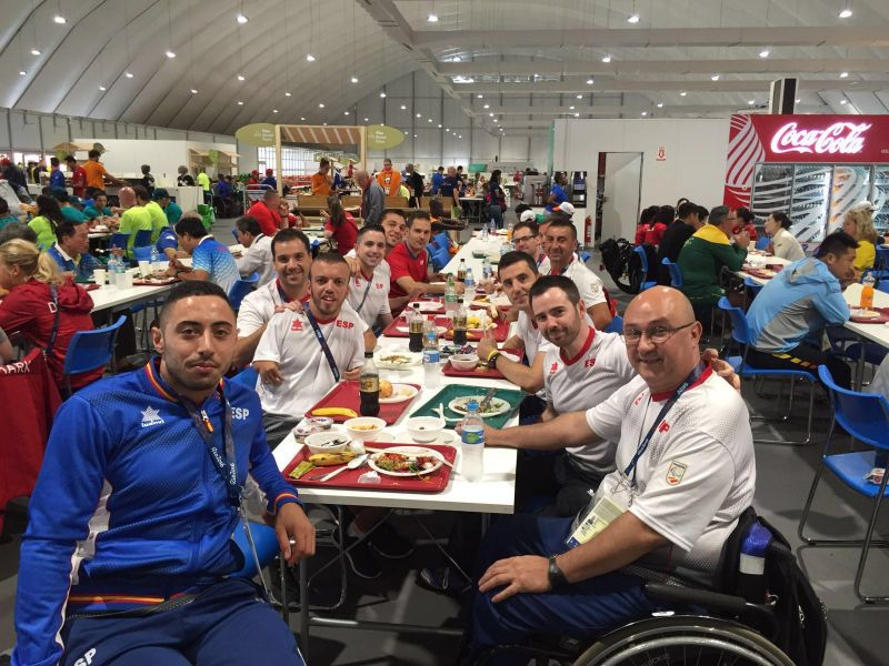 Equipo Paralímpico Español en la Villa Olímpica de Río.