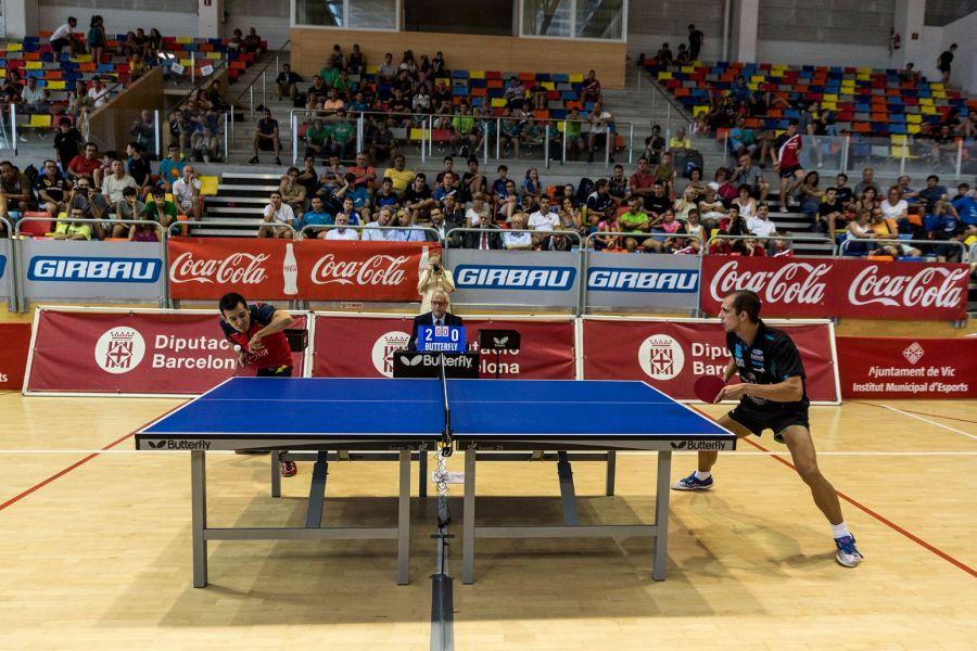 Final entre Durán y Pinho. (Foto: Twitter @Vic_tenis_taula)