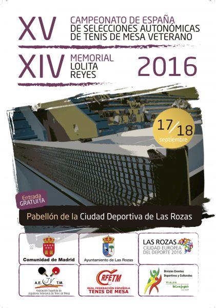 Cartel XV Cto. España Selecciones Aut. Veteranos