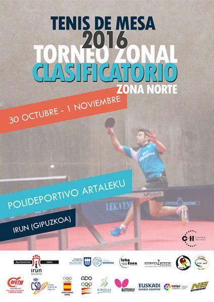 Cartel Torneo Zonal Zona 1 en Irún.