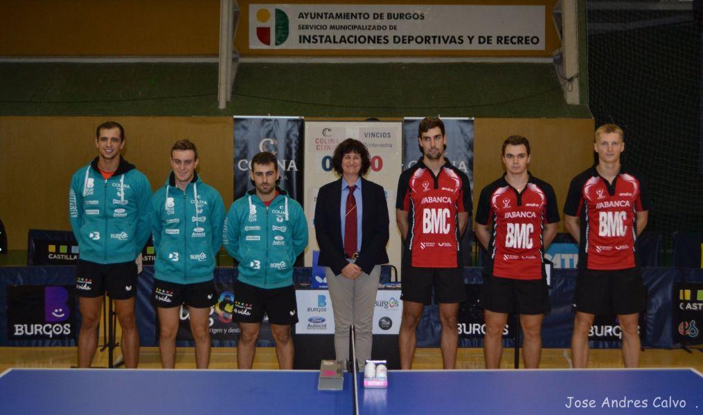 Colina Clinic Burgos y AD Vincios BMC en el partido de la pasada jornada.
