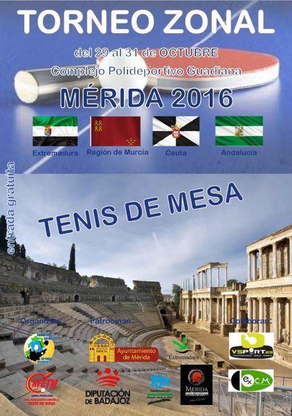 Cartel Torneo Zonal Zona 4 en Mérida.