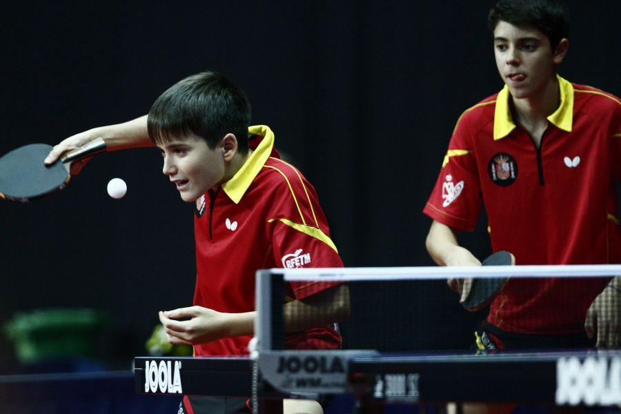 Marc Gutiérrez y Miguel Núñez en Hungría. (Foto: ittfworld)