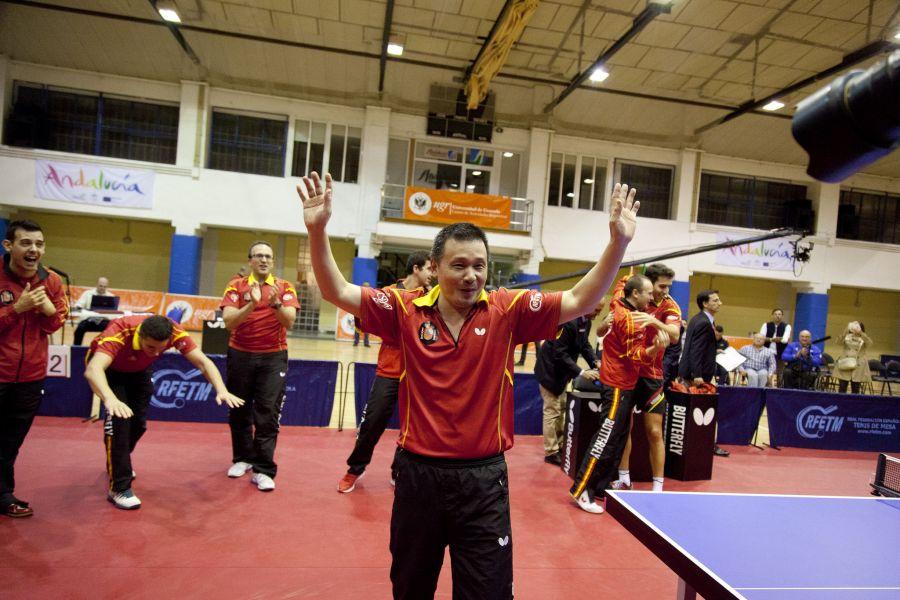 """He Zhiwen """"Juanito"""" en su despedida del equipo nacional. (Foto: Jordi Mesa - 50/120)"""