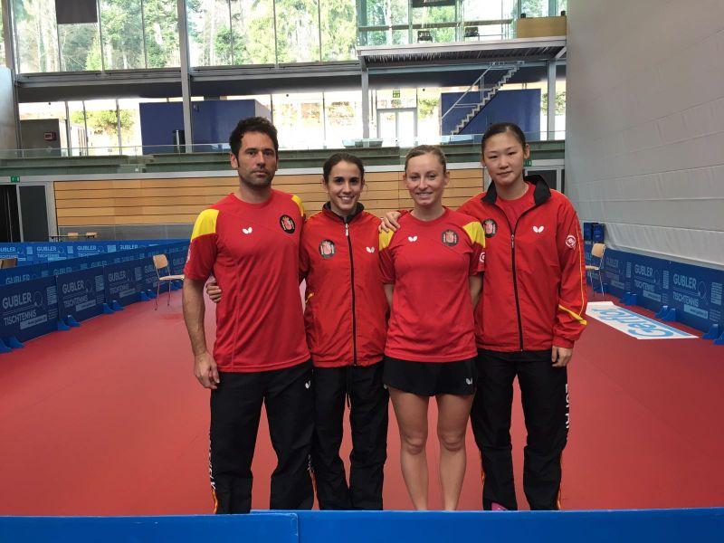 El equipo español en Suiza.
