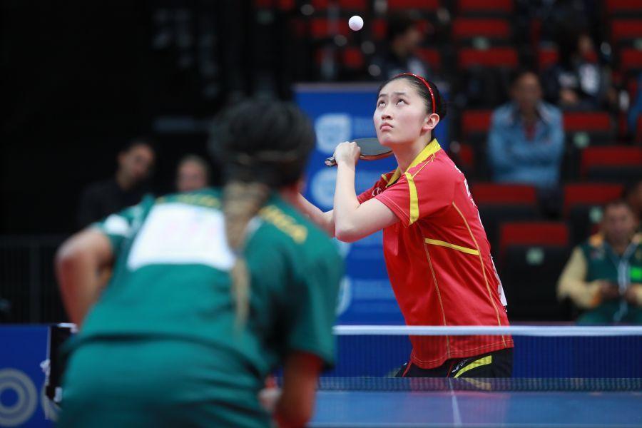 Sofía-Xuan Zhang en el Mundial de Sudáfrica. (Foto: ittfworld)