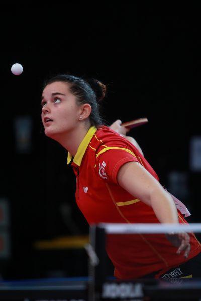 Ana García en el Mundial de Sudáfrica. (Foto: ittfworld)