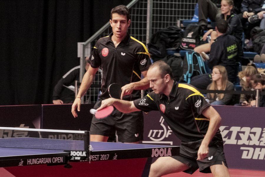 Álvaro Robles y Carlos Machado en el World Tour de Hungría. (Foto: ittfworld)