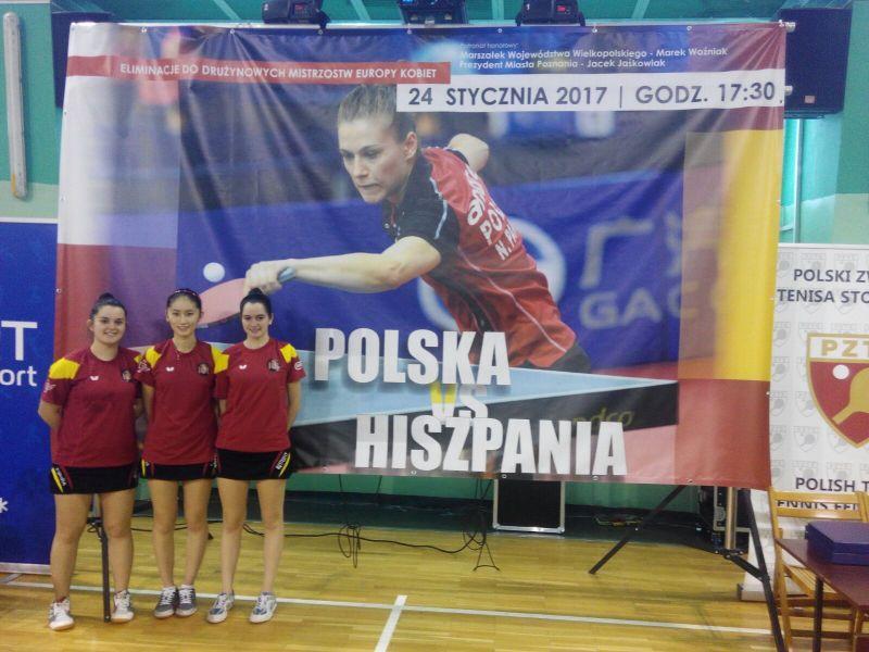 El equipo español en Polonia.