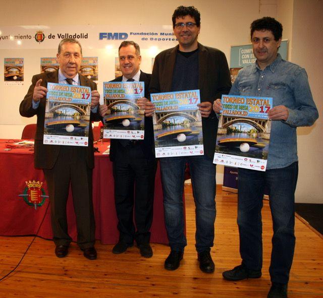 Acto de presentación del Torneo Estatal 2017 esta mañana en Valladolid.