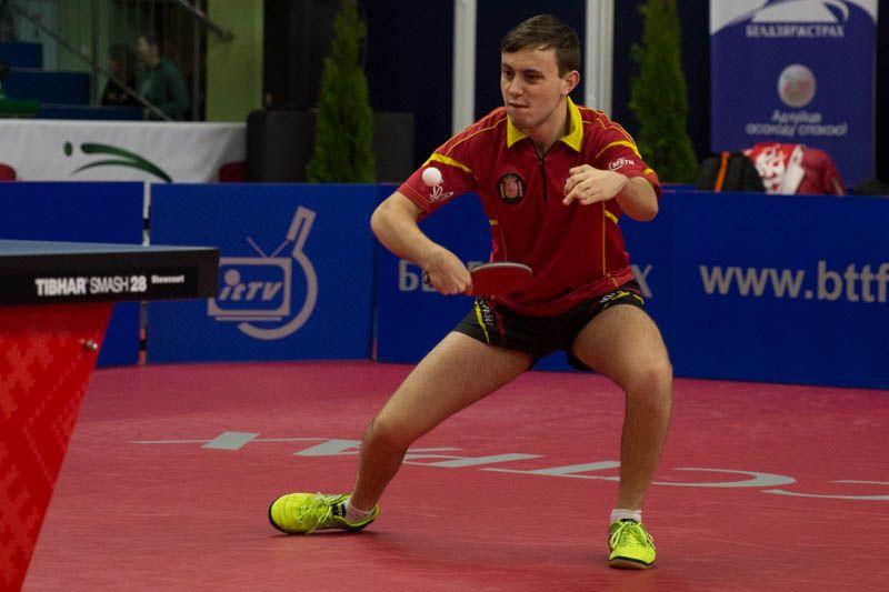 Carlos Vedriel, disputando el Belgosstrakh Belarus Open 2017