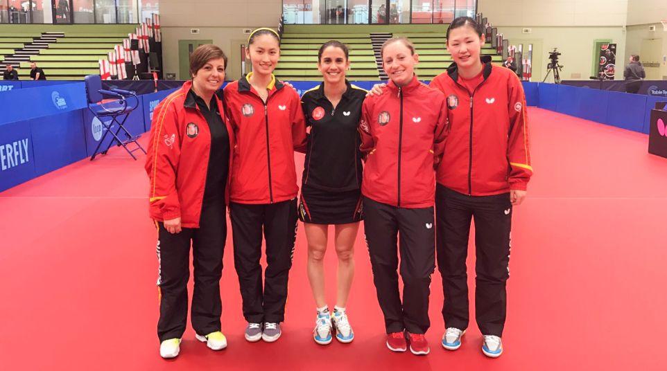 Selección Española Femenina en Preston, Inglaterra.