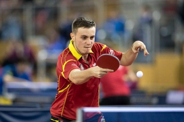 Carlos Vedriel, en competición durante el Open de Luxemburgo 2017