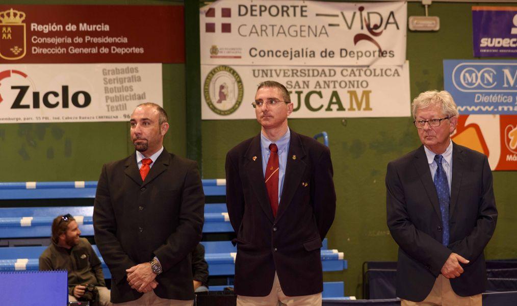Equipo arbitral de los playoff de la Championship Division en Cartagena (Murcia)