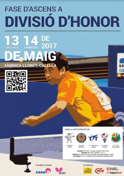 Cartel de la Fase de Ascenso a División de Honor Masculina que se disputará en Calella.