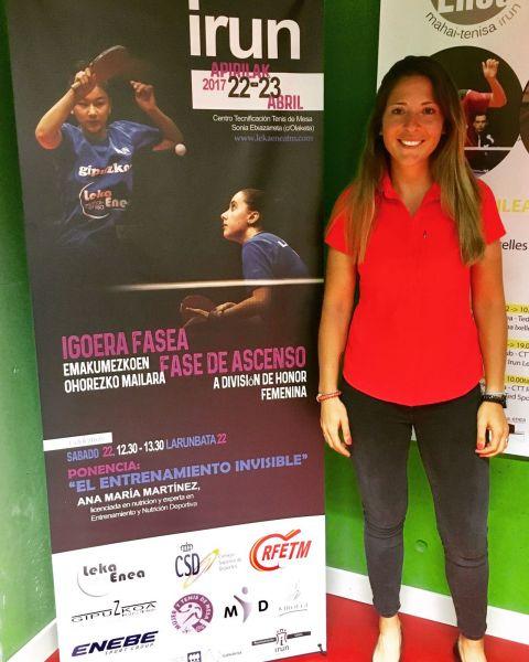 Ana María Martínez, Licenciada en Nutrición y experta en entrenamiento y nutrición deportiva.