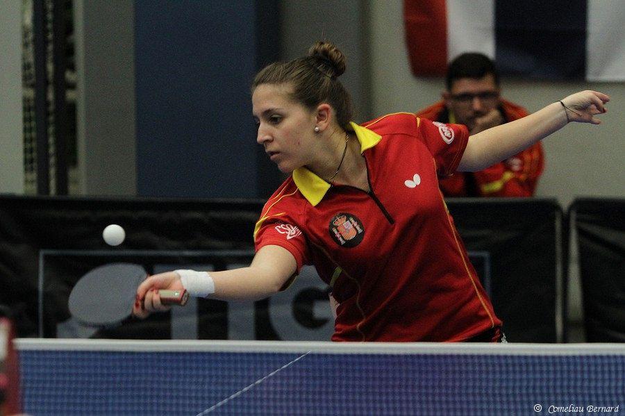 Alba Fernández, jugadora autorizada de la selección española de Tenis de Mesa.