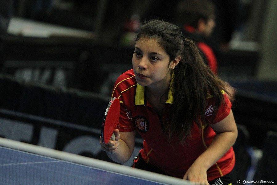 Mireia Pereto, jugadora autorizada de la selección española de Tenis de Mesa.