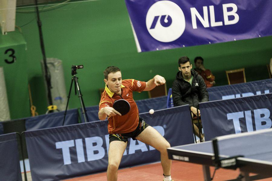 Carlos Vedriel, jugador de la selección española de Tenis de Mesa durante el ITTF Open de Eslovenia 2017