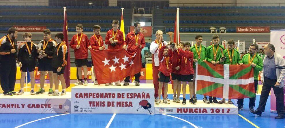 Podio Campeonato de España en Edad Escolar Murcia 2017