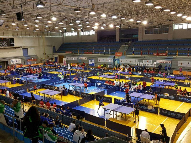 Aspecto del Palacio de los Deportes de Murcia, sede del Campeonato de España en Edad Escolar Murcia 2017
