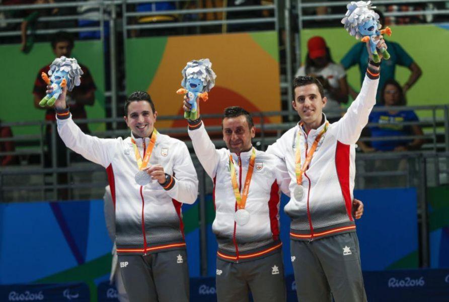 Equipo español con medalla en los JJPP de Río 2016.