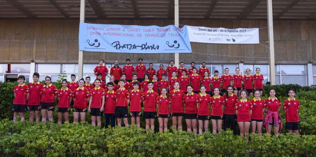 Delegación española en el Open de España Junior y Cadete de Platja d´Aro 2017