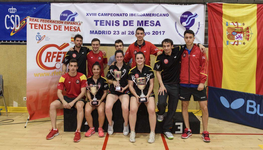 Foto de familia de la Selección Española en el Campeonato Iberoamericano 2017