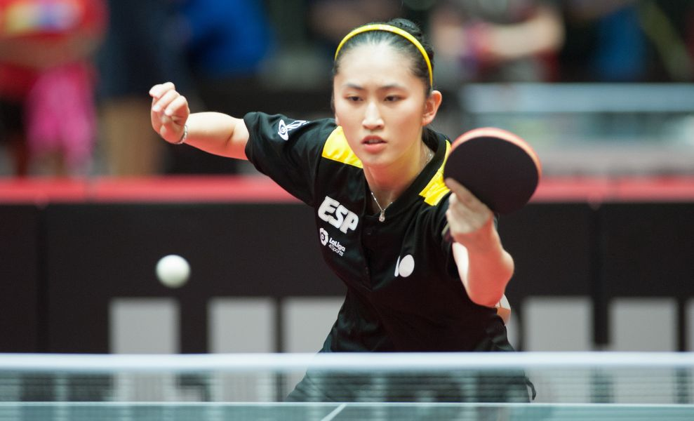 Sofía Xuan-Zhang en el Mundial de Tenis de Mesa en Dusseldorf