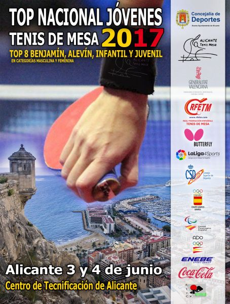 Cartel anunciador del Top Estatal 2017 en Alicante.