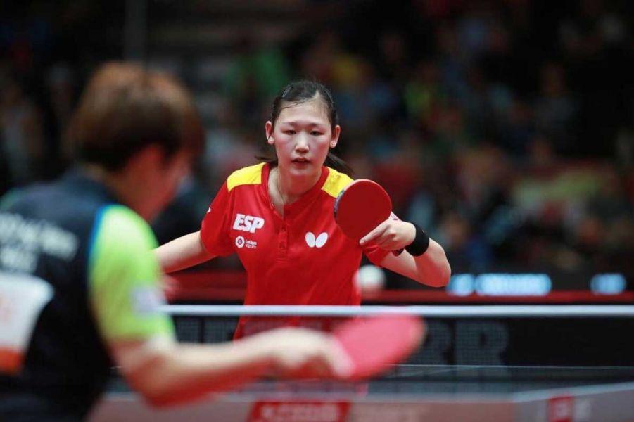 María Xiao, jugadora de la selección española en el Mundial de Tenis de Mesa 2017