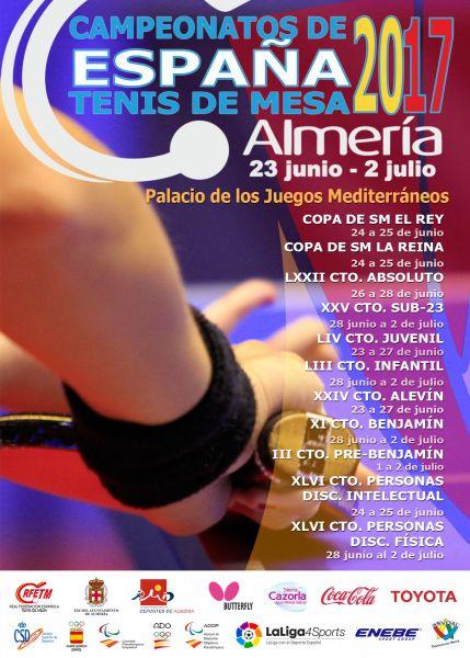 Cartel del Campeonato de España de Tenis de Mesa 2017