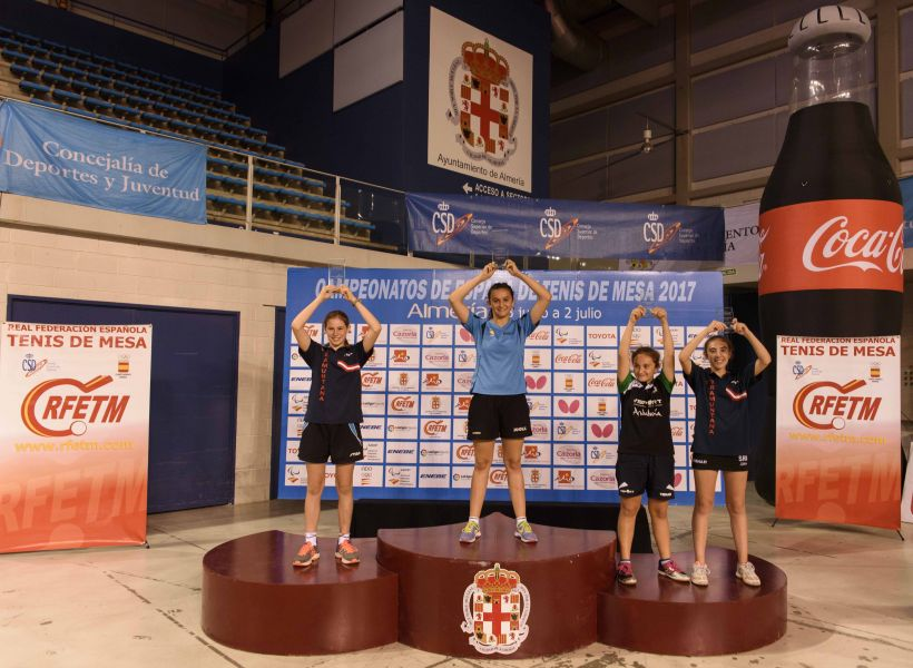 Podio Campeonato de España Alevín Femenino 2017