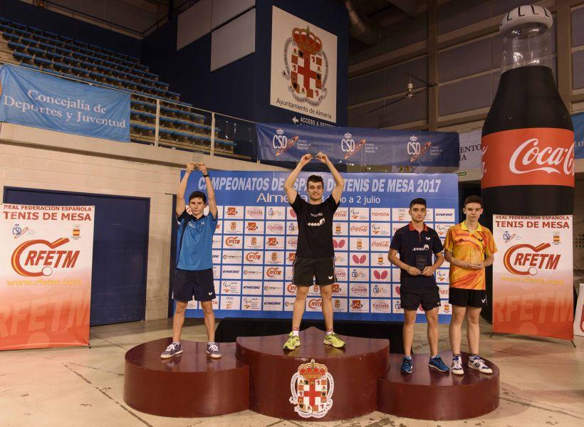 Podio Juvenil Masculino de los Campeonatos de España 2017