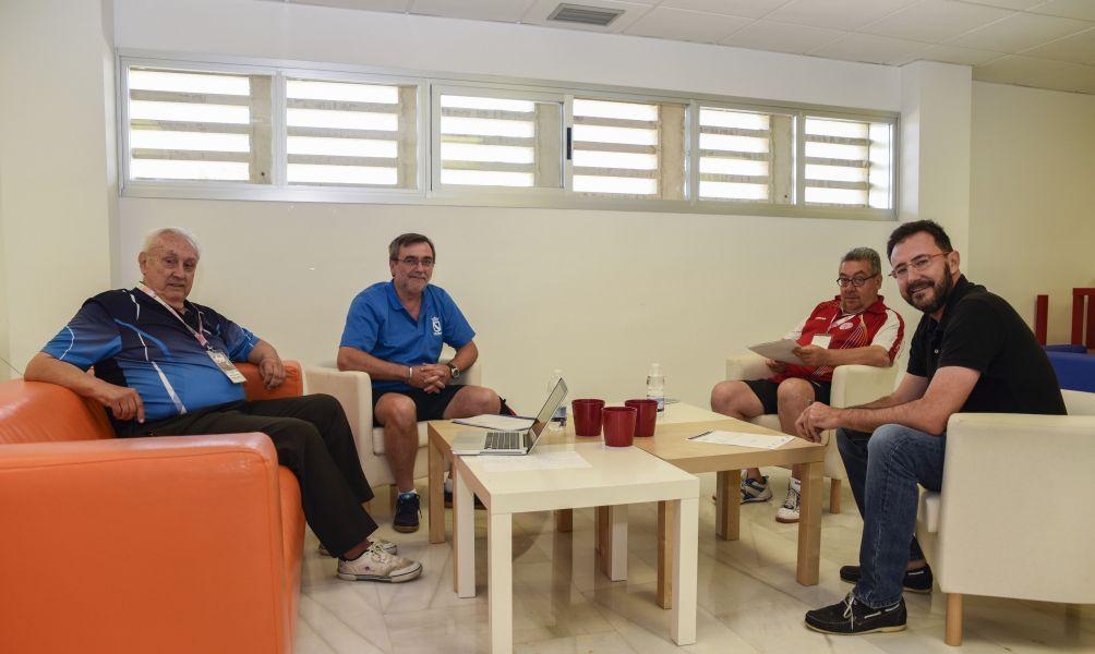 Manuel Sierra, Enrique Morales, Luis García y Miguel Ángel Machado