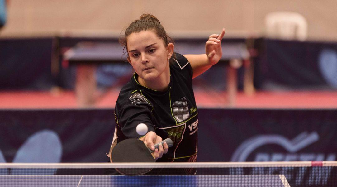 Ana García, del Vic TT, durante la final Sub23 del Campeonato de España Sub23 de Tenis de Mesa