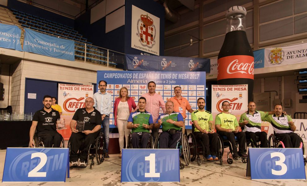 Podio de los Campeonatos de España para Personas con Discapacidad Física